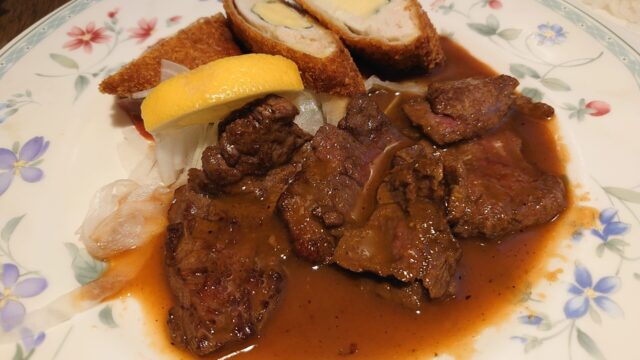 サラダの店 サンチョ 伏見店 チキンカツ+照焼ステーキ