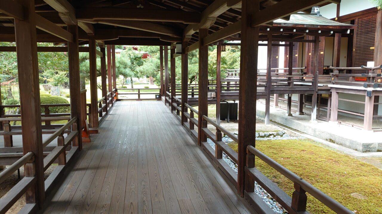 大覚寺 村雨の廊下